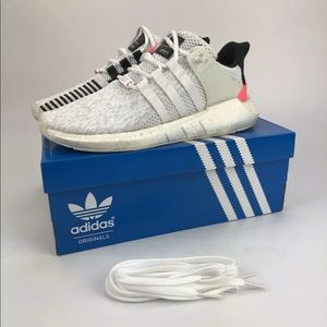Adidas eqt support 93/17 boost white turbo red 10